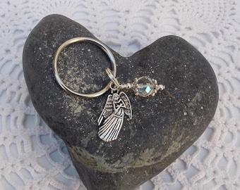 Angel Keychain, Angel and Crystal Keychain