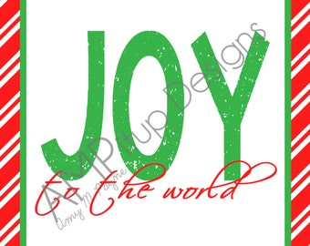 Joy to the World Christmas Print Instant Download
