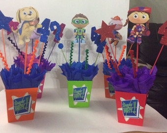 Super Why All Characters Birthday CenterPieces