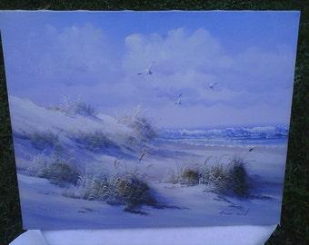 SALE ,Original Acrylic Beach Painting