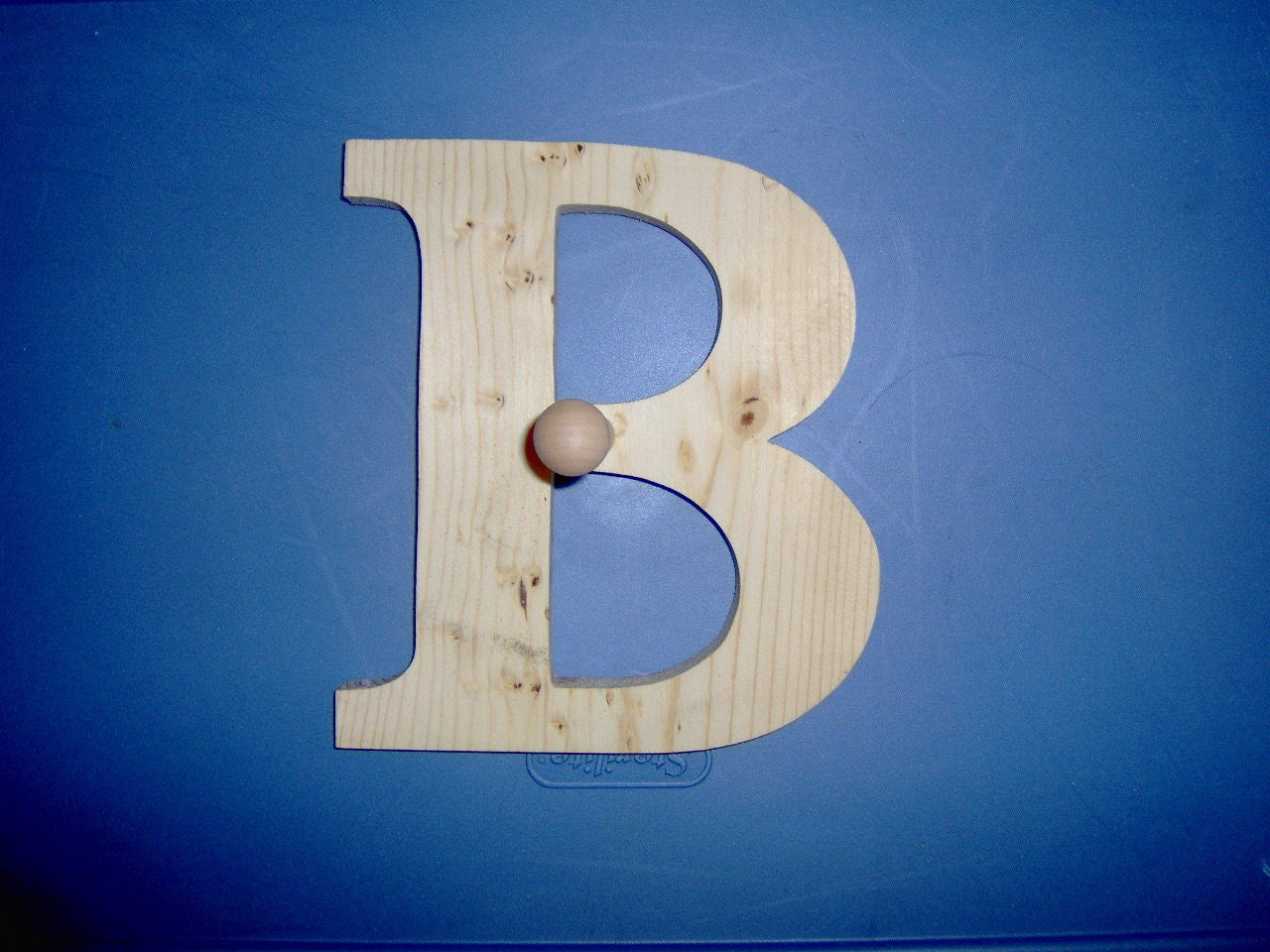 8 Inch decorative wooden letter with peg. Handmade in the ...