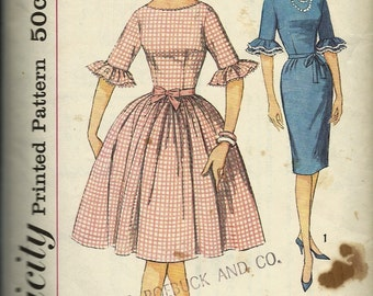 Simplicity 4254  Juniors and Misses One-Piece Dress with two skirts   C1960's    size 12