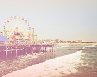 Beach Photography Los Angeles Photography Santa Monica Pier Fine Art Print beach seaside Venice ocean sunshine