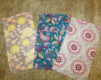 Floral & Paisley Burp Cloths Set of 3 - Ship Ready