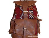 Moroccan Kilim backpack, Kilim Bag