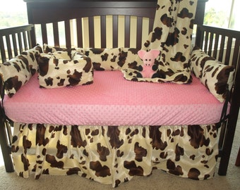 Brown Cow Western Cowboy Crib Bedding