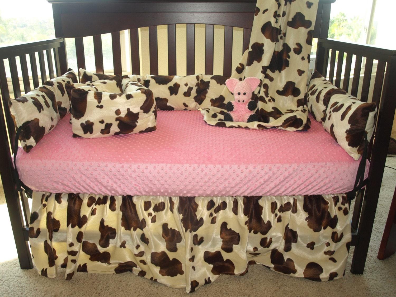 Western Cowboy Baby Bedding Brown Cow