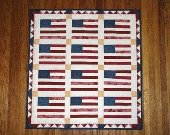 Mini Flag Quilt Wall Hanging