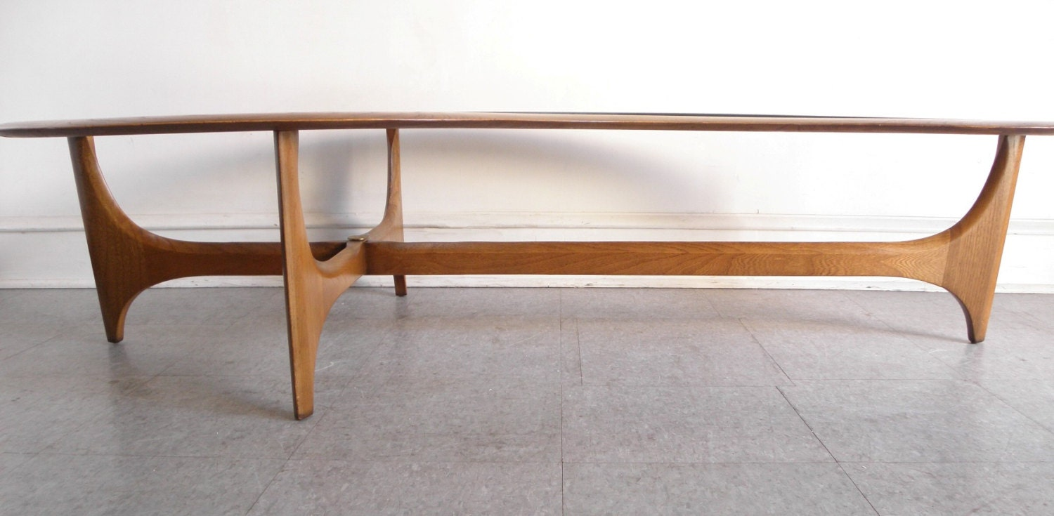 Danish Coffee Table Beautiful Sculpted Teak Danish Coffee Table That
