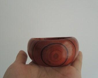 1Pcs 66mm   dark red  wood bangle   ( B004)