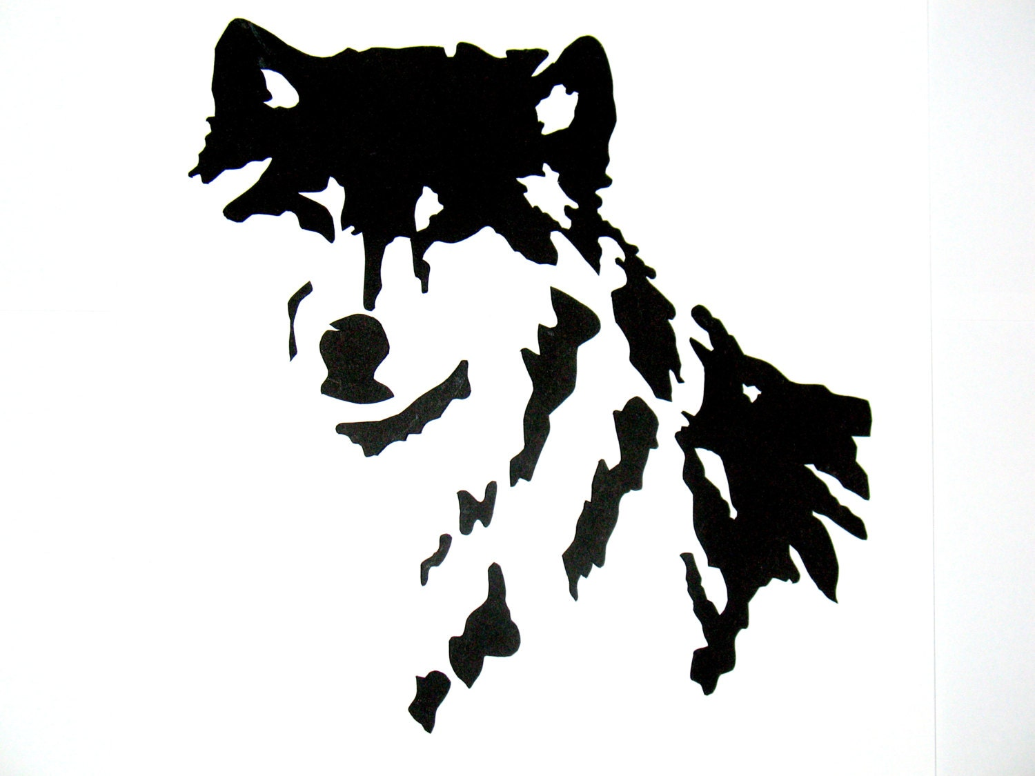 Native American Wolf Silhouette Hand cut silhouette gray wolf by ... Native American Wolf Paw