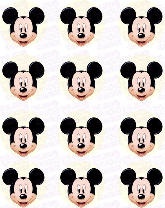 disney micky maus gesicht inspiriert essbare puderzucker. Black Bedroom Furniture Sets. Home Design Ideas