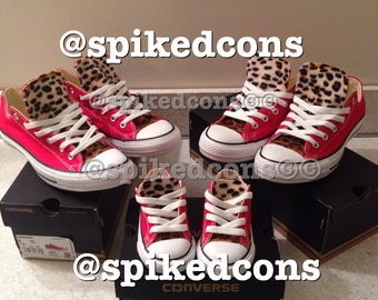 Adult Leopard Converse  (low or high top) ***Ombre' leopard***