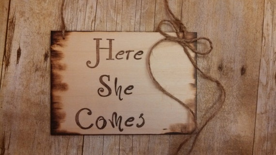 shabby chic ring bearer sign