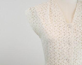 Vintage 1960s Ivory Lace Dress - Sherry Dress