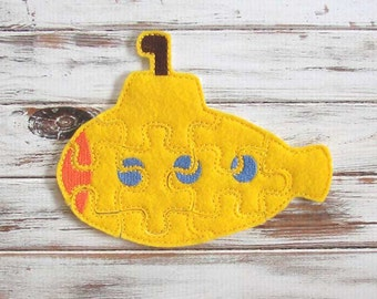 Kids Easy Puzzle - Yellow Submarine - Toddler Puzzles - Felt Toy - Educational - Preschool - Party Favors