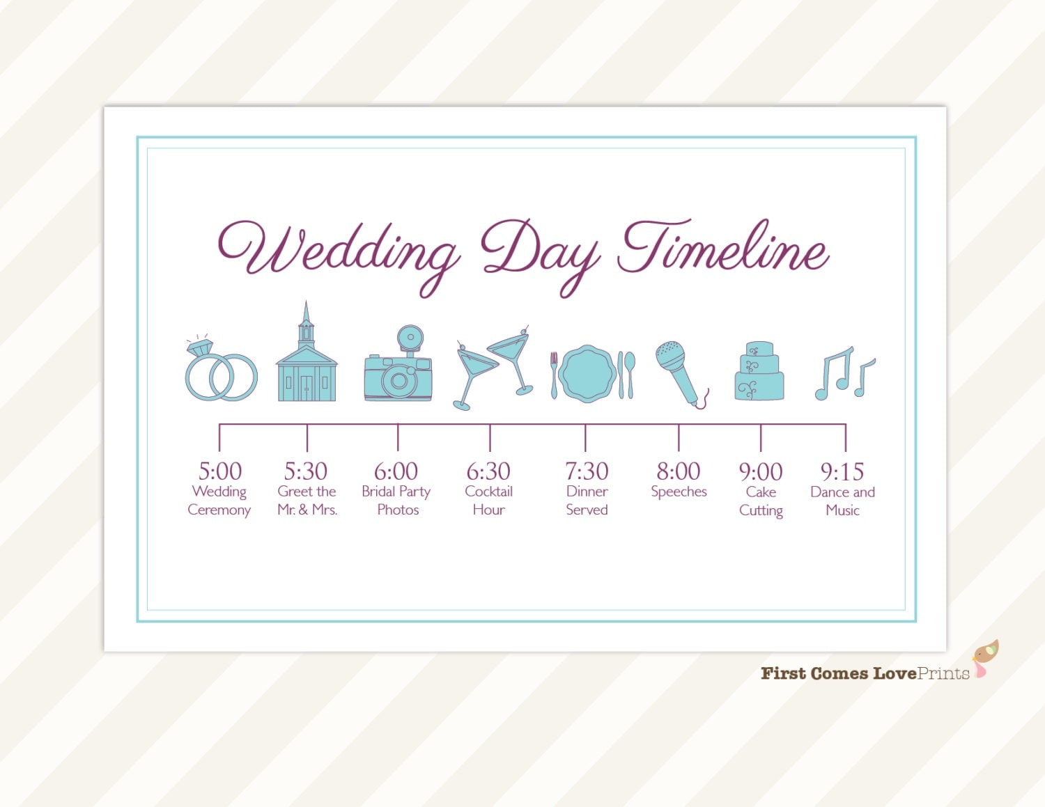Wedding day schedule – Wedding Agenda Template