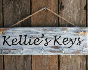 Custom Made Key Hanger From Reclaimed Wood