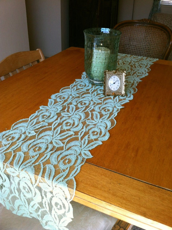 Mint lace table runner 108 for 108 table runner
