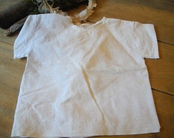 Vintage French cotton bra or little shirt for baby