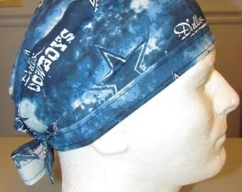 Dallas Cowboys NFL Football Texas Tie Back Surgical Scrub Hat