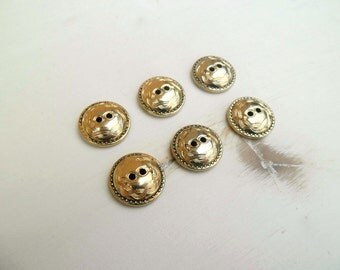 Golden metal buttons