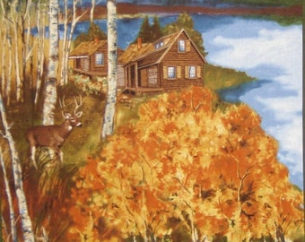 Per Panel, Cabin in the Woods Fabric Panel From Timeless Treasures