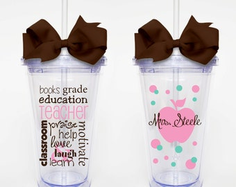 Teacher Subway Art - Acrylic Tumbler Personalized Cup