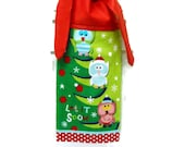 CIJ, Christmas Owl Dish Towel, Kitchen Hand Towel, Hanging Towel, Tie on Towel, Towel with Ties, Dish Towel, Christmas Decor, Tea Towel