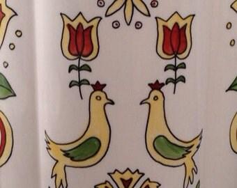 Vintage Porcelain Pennsylvania Dutch Design Lamp