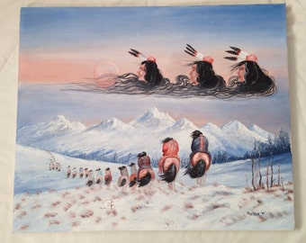 Original Native American Oil Paintings