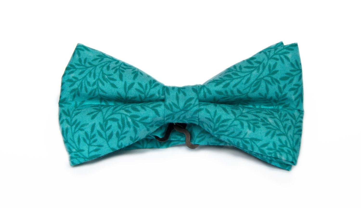 s bow tie teal with floral patterns handmade pretied