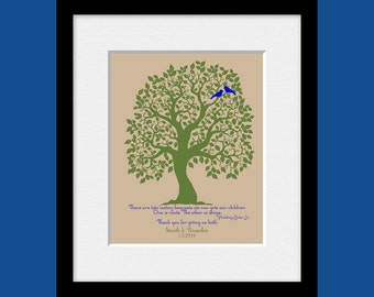 "Keepsake Print for Mom and Dad, Parents Thank You Gift, ""Roots and Wings"" Quote, Wedding Day Gifts, Parent's Thank You Gifts, Unique Gifts"