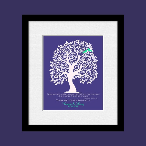 ... Gift, Brides Parent Gift, Grooms Parent Gift, Wedding Tree Print
