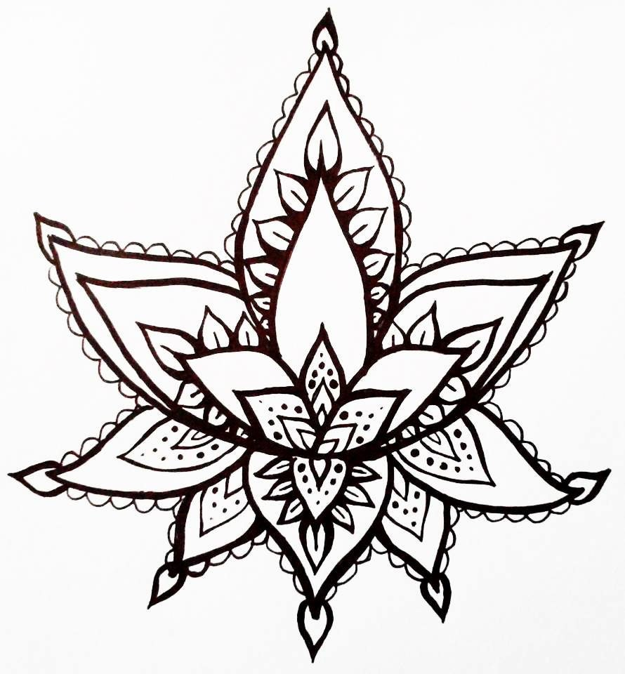 29 unique henna lotus flower designs makedes lotus henna drawing images amp pictures becuo izmirmasajfo Image collections