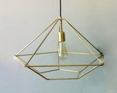 JEWEL 2 Handmade Pendant Light Chandelier Edison Restoration Industrial style minimal geometric chandelier