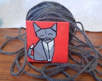 Mini Origami Cat canvas