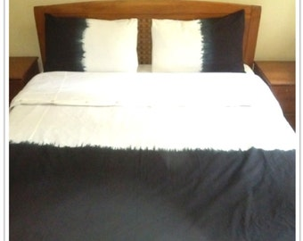 Tie dye bedding Duvet cover set in Black & white colour
