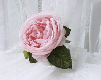 Pink Rose Curtain Tie Backs, hand-made Curtain Holdback Flower