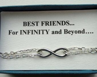 Infinity bracelet Gift, Friendship gift Silver infinity bracelet Infinity bracelet UK  Infinity jewelry Minimalist bracelet Bridesmaids gift