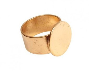 Ring Blank Finding 1 Piece Antique Gold 16mm pad