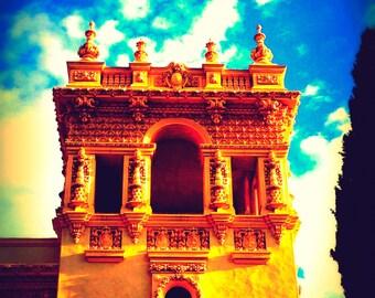 Rapunzel, Travel Photography, Fairy Talesque, Balboa Park Castle Photo, Architechture, Surreal, Fine Art Photograph, Photo Print, Wall Art
