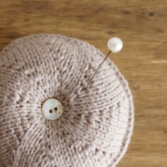 Knitting Pattern For Round Cushion : Items similar to Knit round pin cushion - choose your own color on Etsy