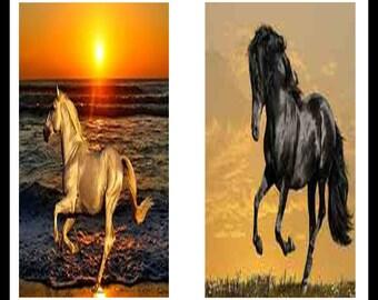 Horses - Animal - Digital Download Sheet - Digital Collage Sheet - Horse Print - Scrapbooking - Dominoe Prints - Dominoes - Jewelry - DDP215
