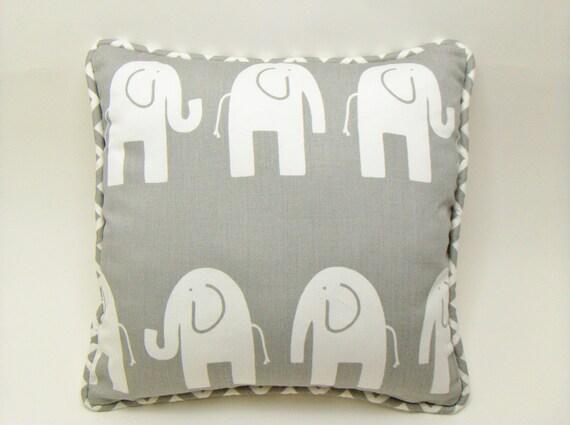 Elephant  Pillow Cover / Nursery decor / ele premier prints pillow / cute elephant pillow / 12 x 12