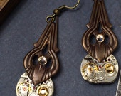 Steampunk earrings Retro Artisan Jewelry - The Victorian Magpie