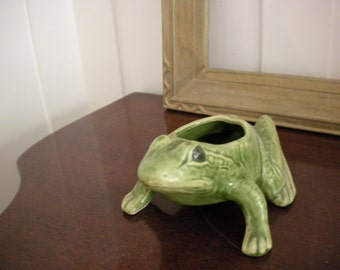 Pottery Frog Planter