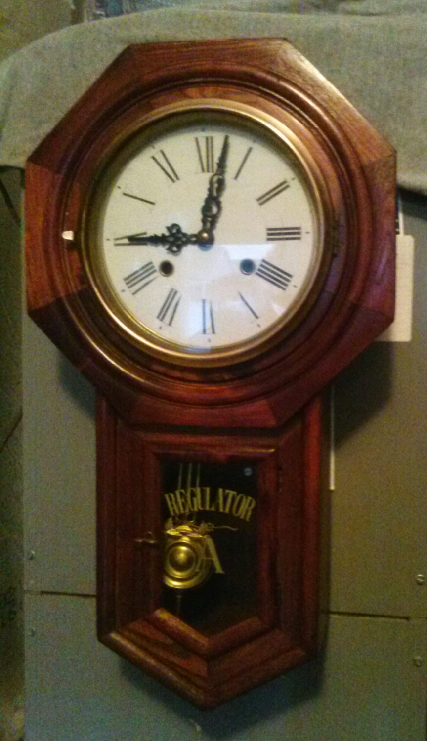 Vintage Regulator A Wall Chime Clock