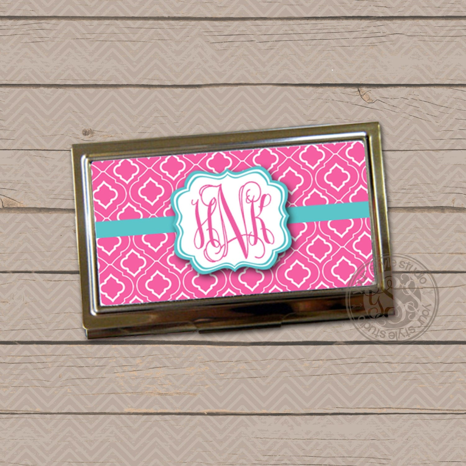 Personalized Business Card Holder Business Card Case