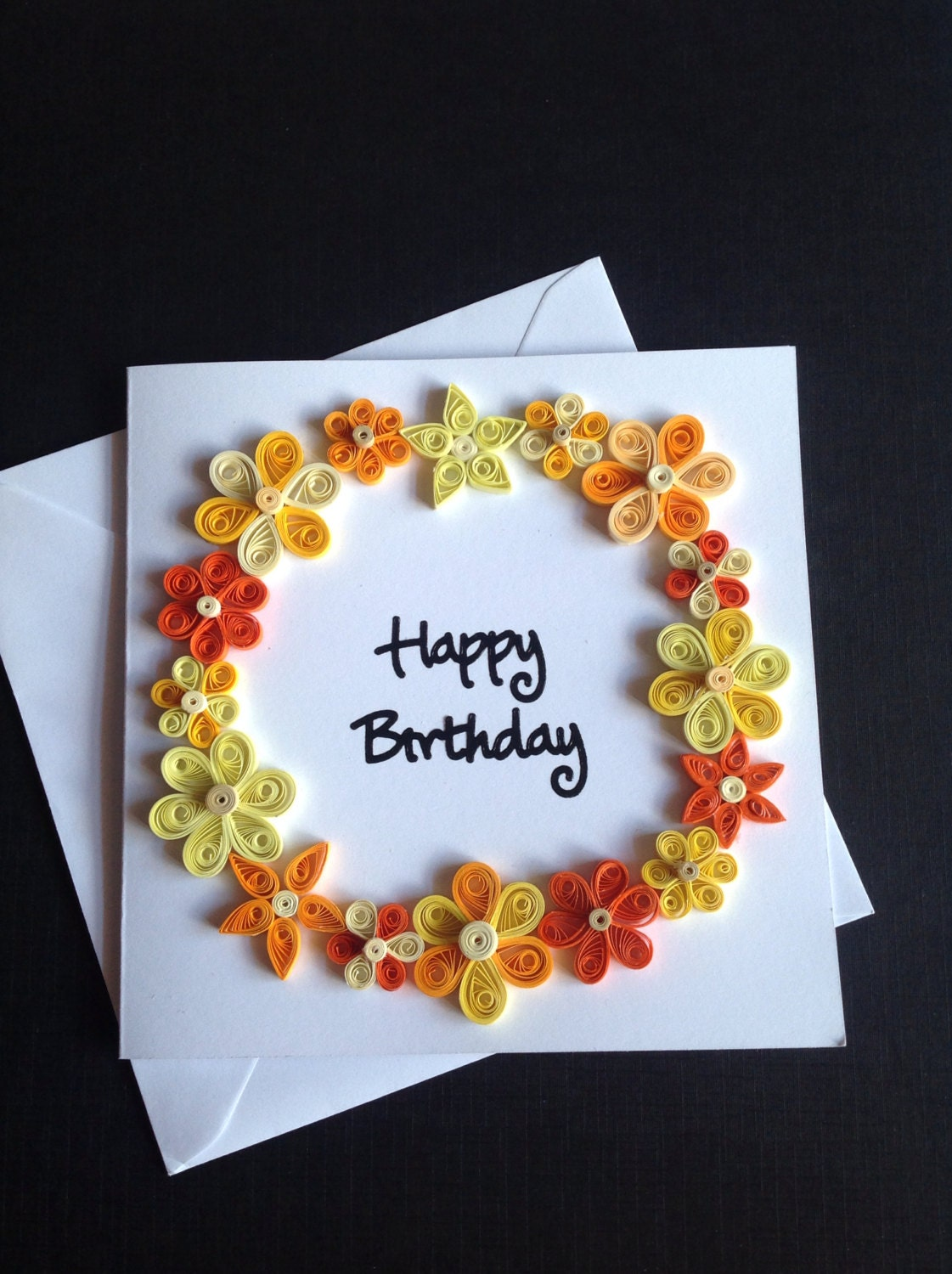 paper quilling flower greeting cardquillsforcards on etsy